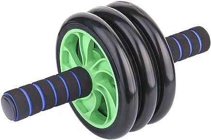 Equipo de la Aptitud AB Wheel Roller Core Training Roller Equipo de Entrenamiento Abdominal Rueda de Ejercicio y Ejercicio en casa con Rodilleras y Mangos Antideslizantes Entrenamiento Deportivo