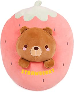 ARELUX 21Inch Strawberry Bear Plush Sleeping Hugging Pillow for Kids,Cute Stuffed Animals Doll Toy Gifts for Valentine,Dec...