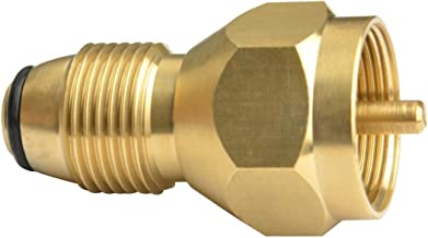 Onlyfire Universal Propane Tank Refill Adapter- 100% Solid Brass Regulator Valve Accessory for all 1 LB Tank Small Cylinders