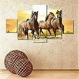 ecmqs 5pcs sin marco moderno caballo pintura al óleo de impresión de Lienzo pared...