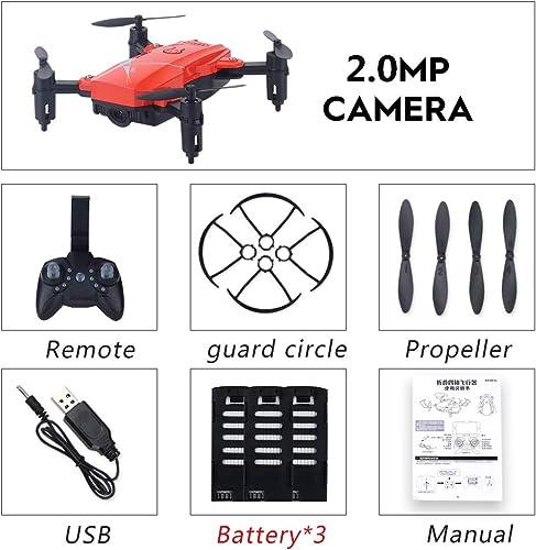 JHSHENGSHI Drone Pliable Quadcopter, Drone avec caméra FPV WiFi Drone avec Camera 2.0MP,Vol de Trajectoire, 360°Flips pour Les Débutants et Les Enfants