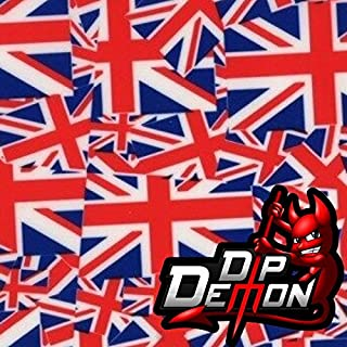 Britain Flags London England Hydrographic Water Transfer Film Hydro Dipping Dip Demon