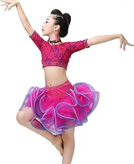 4942554d4a9 SMACO Traje De Baile Latino para Niñas, Concurso De Disfraces De Baile/ Vestuario para