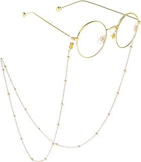 Brillenkette Brille Kette Brillen Cord Brillenband Naturperle rutschfeste Wundersch/ön Edelstahl Lesebrille Brillen Sonnebrillen Cords