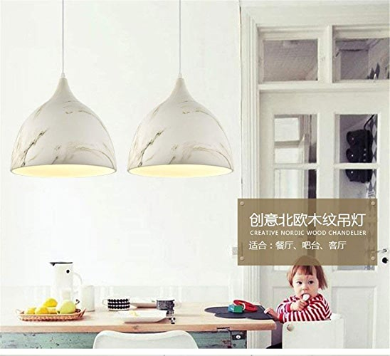 WHKHY Lampes suspendues Lampe en Bois et en Aluminium Luminaires Suspendus Eaterys Flush Lobby Flush Concise à la Mode Techniques Politique Intérieure Politique éclairage, Ivory Know 300  320Mm