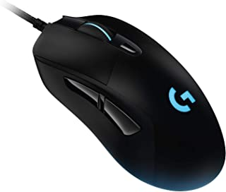 Logitech G403 HERO 16K Gaming Mouse Wired, 6 Programmable Buttons, LIGHTSYNC RGB Backlit, PC Gaming Mice, Lightweight for PC and MaC with Braided cable, Plug and Play