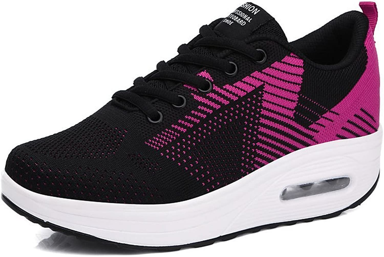 BeautyOriginal Women's Slip on Wedge Platform Leather Walking shoes Lose Weight Shake shoes