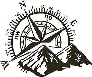 48x34cm Auto Aufkleber Berg Kompass Navigation Auto Aufkleber Kompass Tür Aufkleber Berghaube Auto Aufkleber