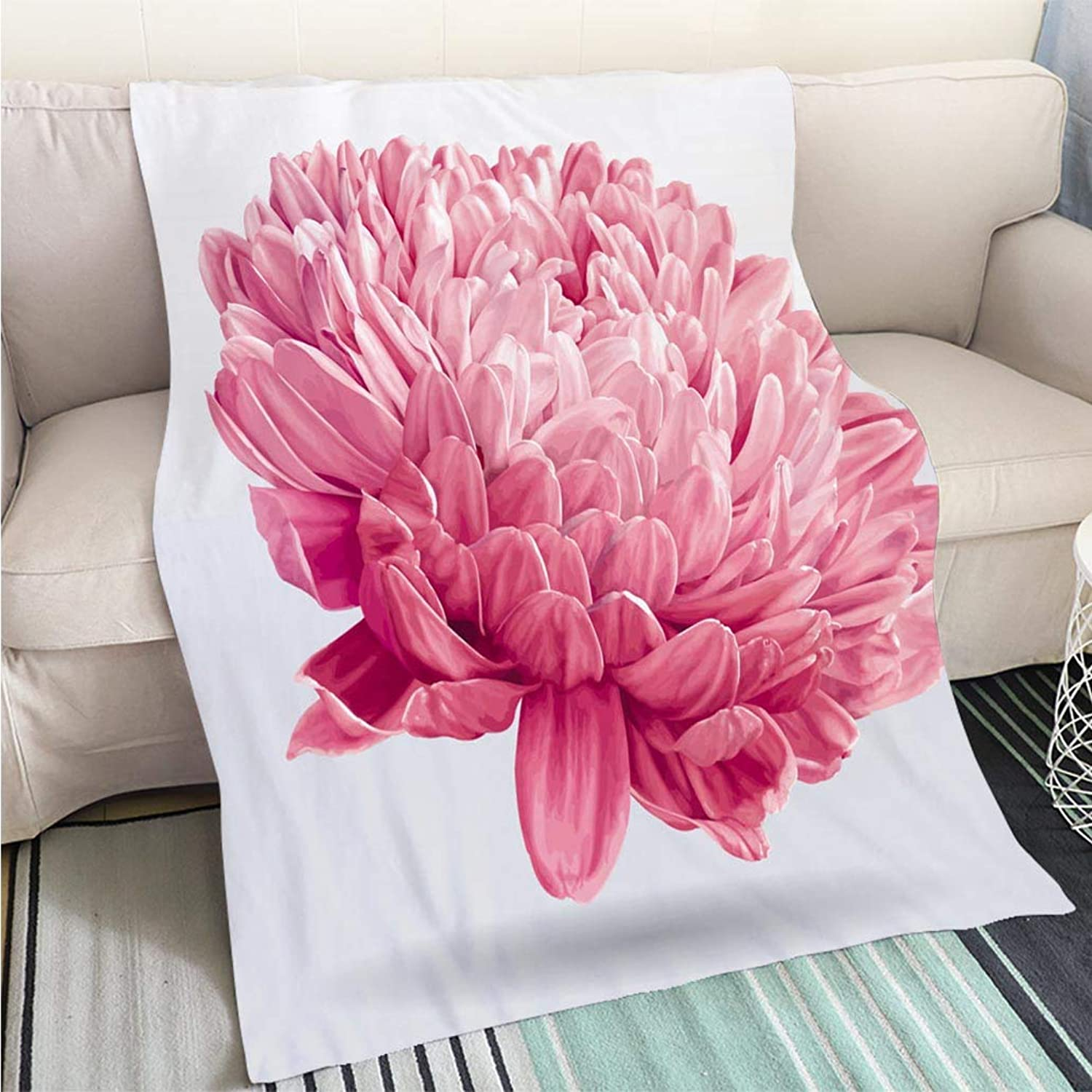 BEICICI Luxury Super Soft Blanket Luxurious Pink Aster Flower Sofa Bed or Bed 3D Printing Cool Quilt