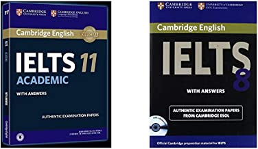 Cambridge English: IELTS 11 Academic with Answers + Cambridge English IELTS 8 Book with Answers and Audio CDs (2)): Official Examination Papers from Uni (Set of 2 Books)