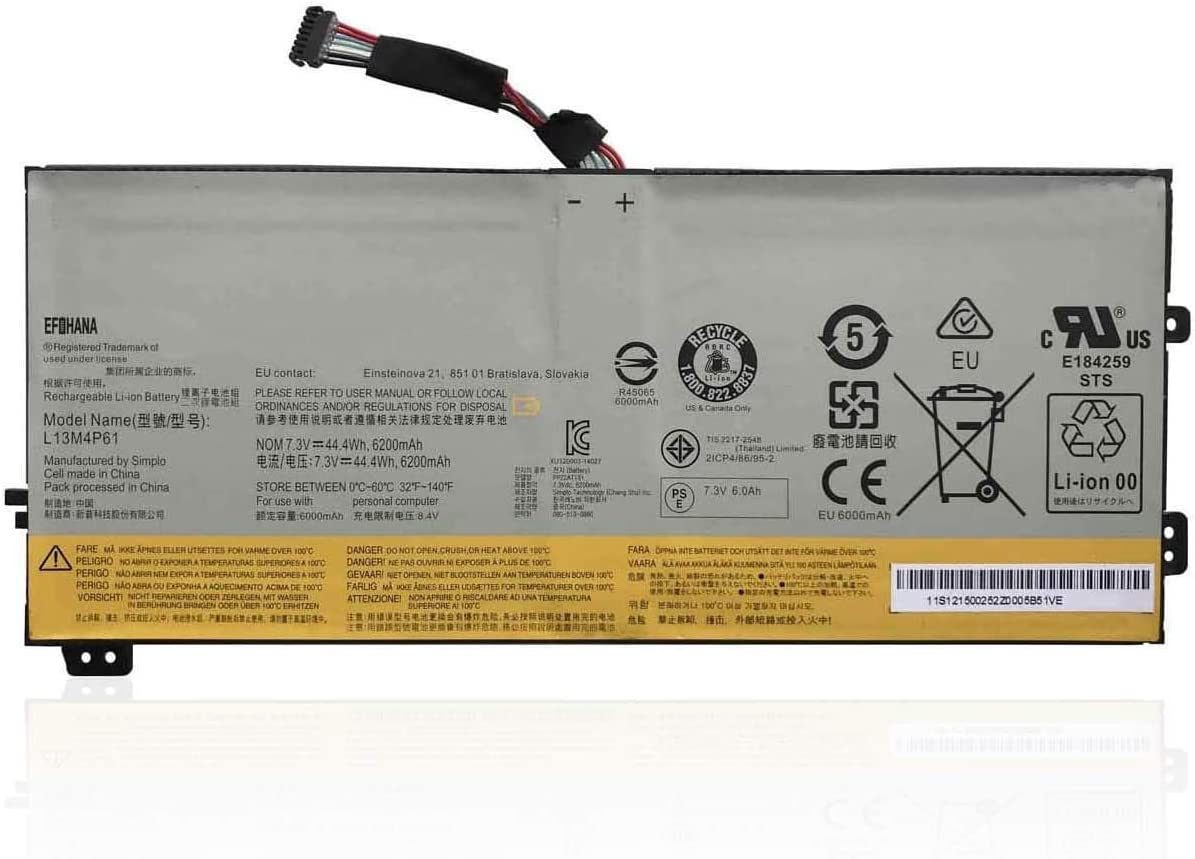 OFFicial mail order efohana L13M4P61 Laptop Battery OFFicial shop Replacement 80H1 Edge 80K for 15