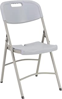 Heavy-Duty Indoor/Outdoor Blow-Molded Folding Chair Gray (Pack of 4)