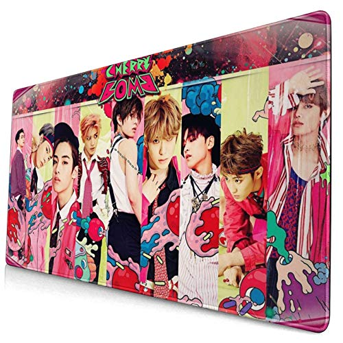 NCT 127 Cherry Bomb Kpop (10) Gaming Large Computer Mouse Pad XXL Professional Rectangle Non-Slip Rubber Mousepad Desk Mat