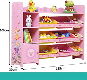 Gfdsase Durable Children Finishing Storage Rack For Organizing Toy Storage Baby Toys Kids Toys Dog Toys Baby Clothing Children Books Easy Care  Color Pink  Size Free size