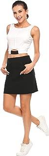ACEVOG Women's Elastic Waist Active Skirt with Built-in Short