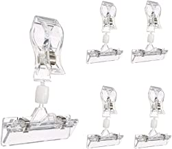 17 Pack Clear Plastic rotatable POP Clip-on Style Merchandise Sign Display Clip tag Holders