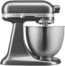 KitchenAid KSM3311XQG Artisan Mini 3.5 Quart Tilt-Head Stand Mixer, Qt, Liquid Graphite