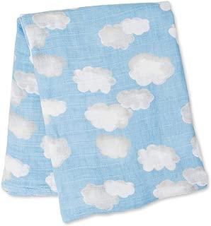 lulujo Baby Cotton Muslin Swaddling Blanket, Clouds