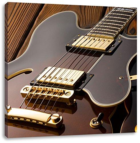 elektrische gitaarCanvas Foto Plein   Maat: 70x70 cm   Wanddecoraties   Kunstdruk   Volledig gemonteerd