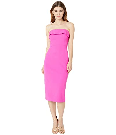 Bardot Zorianna Midi Dress (Pink Shock) Women