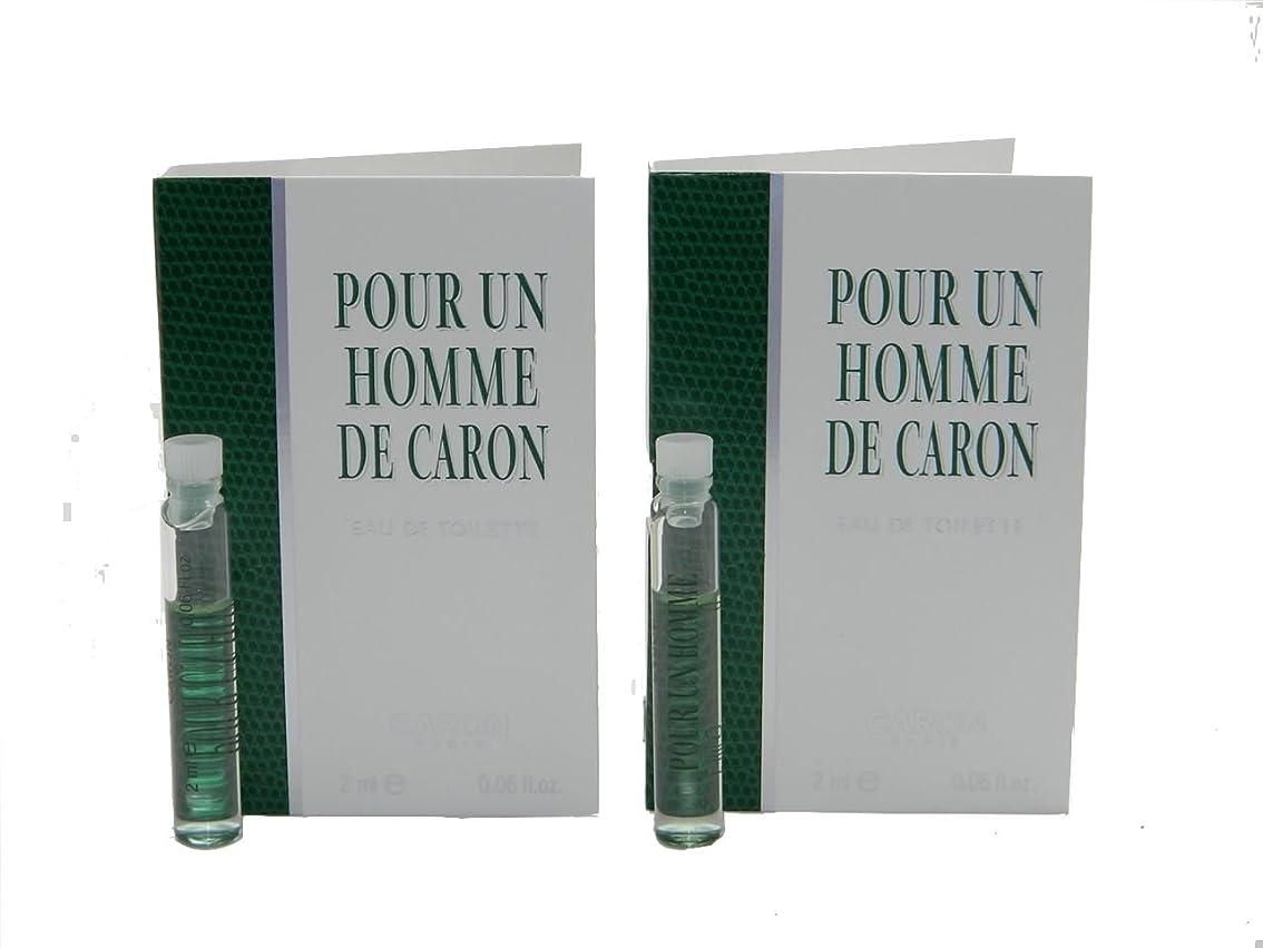 すばらしいですのヒープ潜水艦Pour Un Homme De Caron EDT Vial Sample [Lot of 2](プール アン オム ド キャロン オードトワレ)2x2ml [並行輸入品]