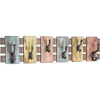 Lashuma - Perchero de pared, 2 tamaños, metal, diseño retro ...