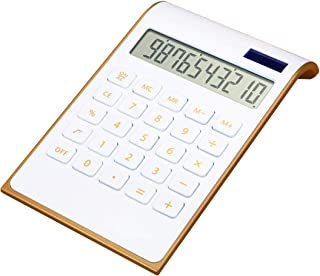 CAVEEN Calculator Caveen Slim White Business Calculator in Home or Office Electronic Solar Dual Powered Basic Desktop Calc...