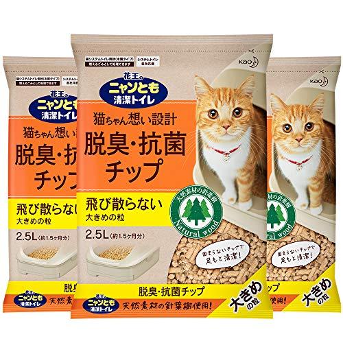Kao Deodorizing Antibacterial Cat Litter, Large Grains, None