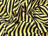 Polycotton-Stoff Kleid Stripe Print Gelb &