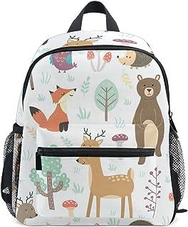 Fox And Bear Backpack Lightweight Preschool Bag Kids Toddler Bag for Boys Girls