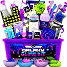 Original Stationery Galaxy Slime Kit with Glow in The Dark Stars & Slime Powder to Make Glitter Slime & Galactic Slime for Boys and Girls
