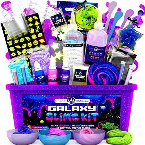 Original Stationery Galaxy Slime para Niños Kit Galaxy Slime Estrellas Que Brillan...
