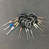 Kit de Herramientas de extracción de terminales de Coche, Extractor de Conector de crimpado de cableado de arnés (Negro 11pcs / Set)