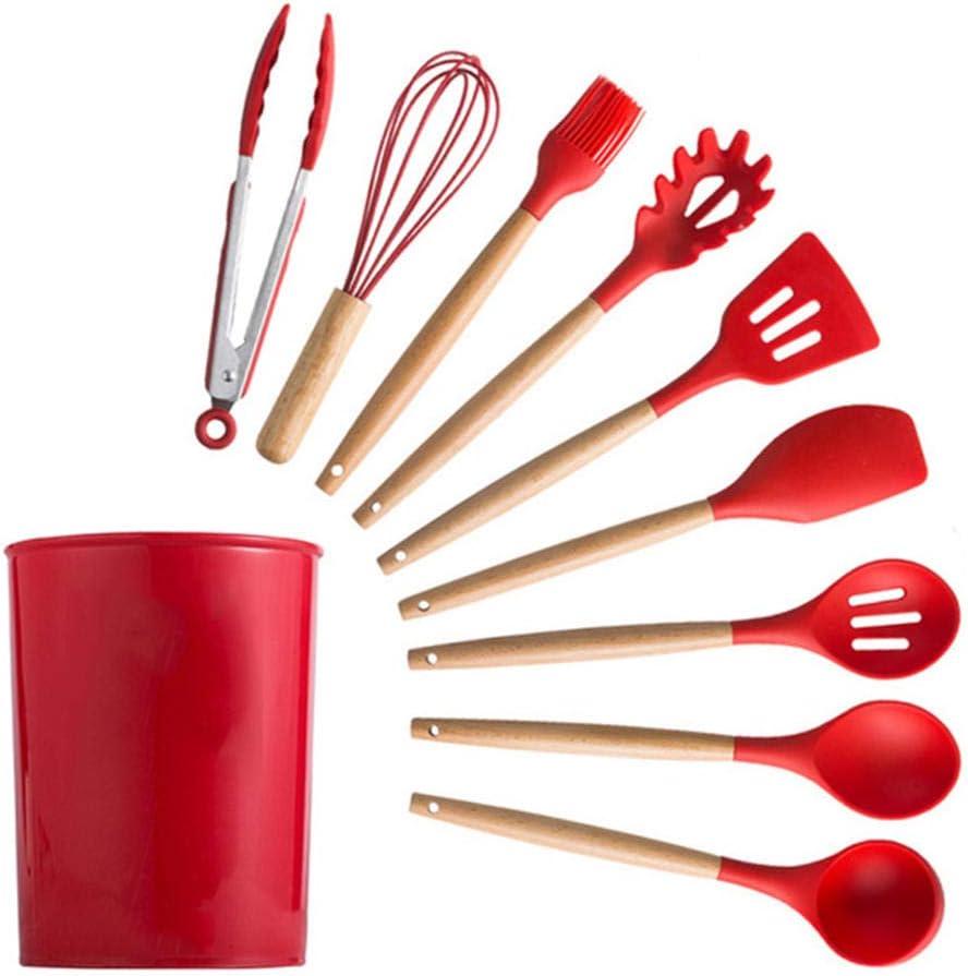 NUIOsdz Kitchenware Cheap mail order specialty Max 90% OFF store Cooking Utensils Set Resistant Heat Kitchen