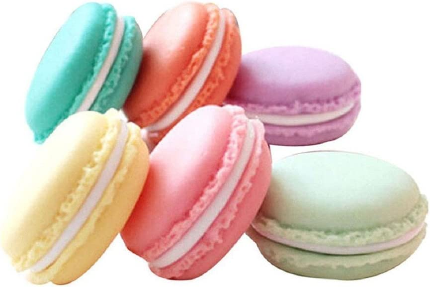 QTMY 6 PCS Colorful Branded goods Mini Macaron Some reservation Storage Jewelry Shape Candy Box