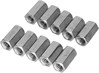 M6 Long Rod Nut Hex Coupling Nut Female Thread Straight Fitting Hex Rod Threaded Bar Rod Studding Hex Zinc Plated 10pcs(M6 X18mm)
