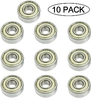 606ZZ 6 x 17 x 6 mm Deep Groove Ball Bearing, 10 Pcs, Double Metal Shielded Miniature Ball Bearings, Fit for Skateboard Bearings, Hand Spinner, Longboard, Roller Skates etc. (Pack of 10)