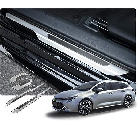 Avisa 2 23017 Stainless Steel Door Sill Panels For Toyota Corolla Xii Saloon Hatchback Touring Sports Hybrid 2018 4 Piece Auto
