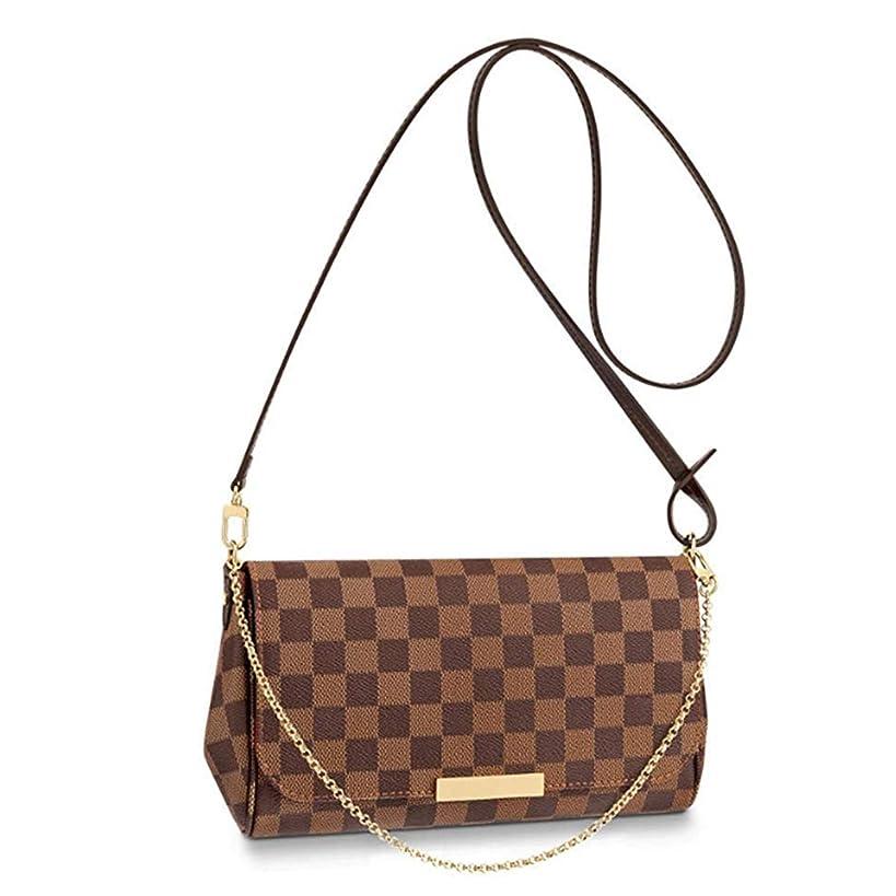 eLVe Favorite Shoulder Bag (MM, Damier Ebene Canvas Small Crossbody Bag Shoulder Bag