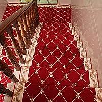 家具の装飾リビングルームカーペット滑り止め自己接着性屋内安全階段ステップトレッドフロアマット階段パッドエリアラグred_26x75cm