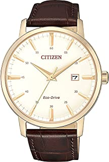 CITIZEN Mens Solar Powered Watch, Analog Display and Leather Strap - BM7463-12A