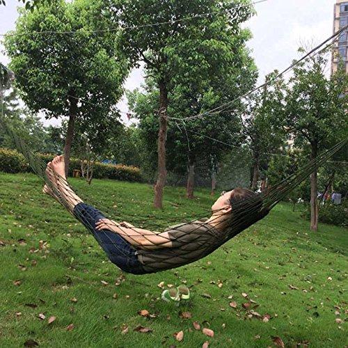 ryadia (TM) de Filet en nylon pour portable Lit Portable Camping Hamac confortable en maille Jardin Hamac de haute qualité meubles tonsee