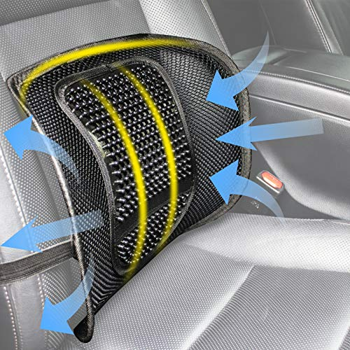 Teraves Lumbar Support for Office Chair, Car Seat or Home Chair, Double Breathable Mesh Back Support Cushion for Driving Comfort and Posture Support Alaska