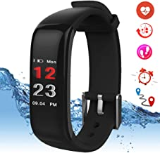 OmidiWorld Fitness Tracker HR with Blood Pressure Monitor, Activity Tracker Smart Watch with Sleep Color Monitor, Pedometer Calorie Counter for Women Men Kids