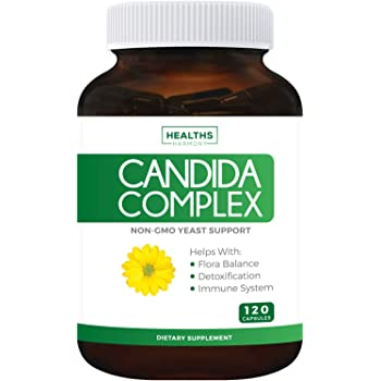 Candida Complex - 120 Capsules (Non-GMO) Extra Strength - Powerful Yeast & Intestinal Flora Support with Caprylic Acid, Oregano Oil and Probiotics - Cleanse Support Supplement