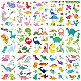 Temporary Dinosaur Tattoos Stickers for Kids Temporary Cartoon Tattoos for Children Fake Dinosaur Tattoo Papers for Girls and Boys Birthday Party Supplies 15 Sheets