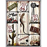 Nostalgic Art Magnet-Set 9-teilig, Route 66 - Desert Survivor