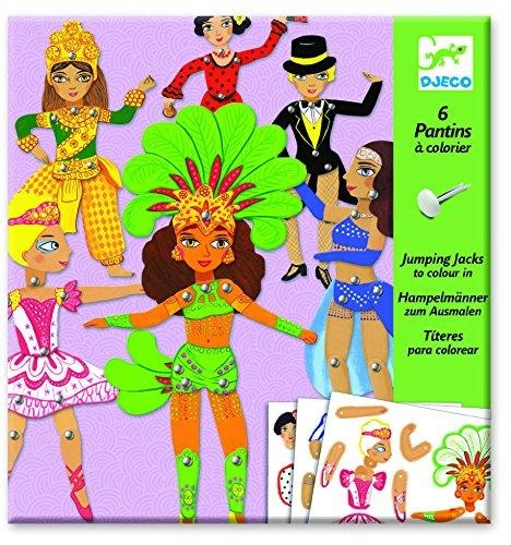 6 Pantins à Colorier Dance
