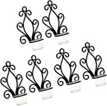 MagiDeal 6Pcs Antique Metal Iron Wall Mounted Sconce Tealight Candle Holder Candlestick