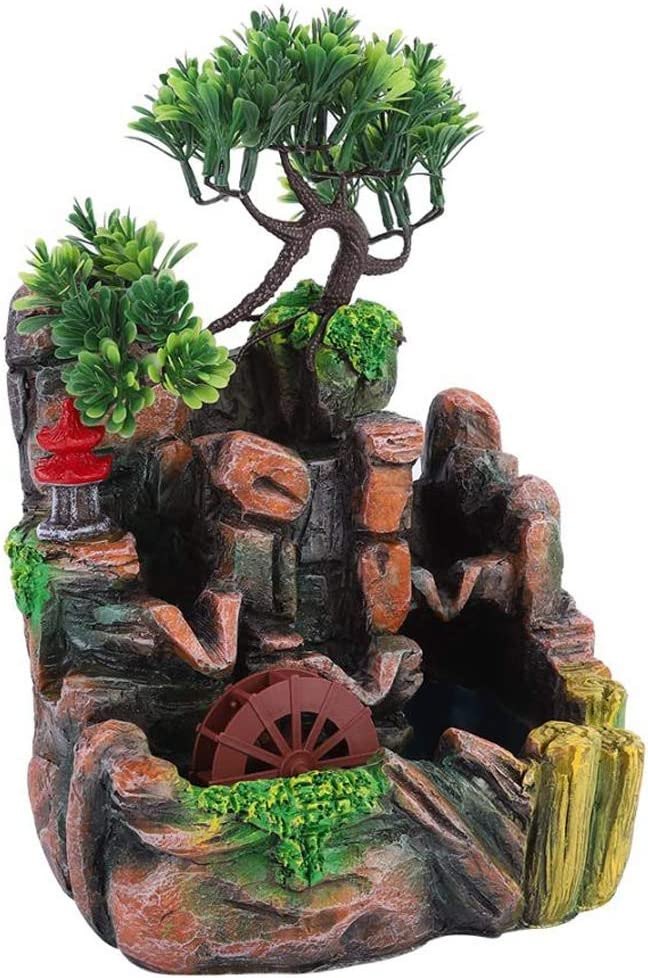 LSSAZ Tabletop Decorative Waterfall Simulation Resin Des Rockery High quality Cheap mail order specialty store new